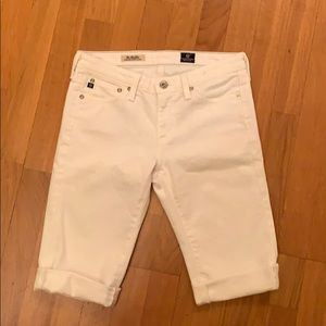 White AG jean shorts